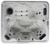 Square inground pool outdoor spa hot tub with overflow system
