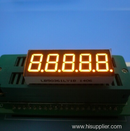 Super Blue 0.36 inch 5 digit 7 segment led display for instrument panel