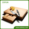 2014 Fashion bamboo cheese board with knives