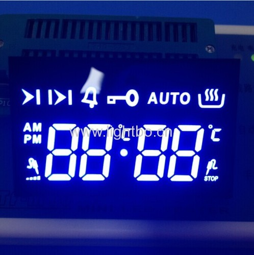 Ultra blue 7 segment led display 4 digit for Oven Control