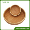 Round shape bamboo salad bowl set