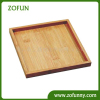 Biodegradable bamboo serving plate dish tray