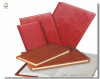 red leather cover work diary