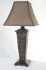 Modern fashion boutique indoor rattan table lamp