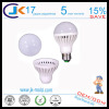 factory price 3w to 12w E27 led bulb plastic cover