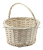 wejoin white wicker flower basket