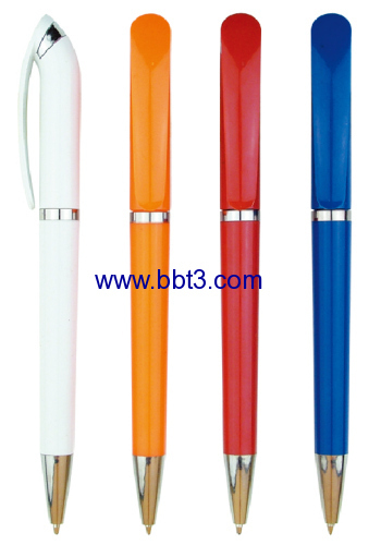 Promotional plastic twist ballpoint pen with middle ring