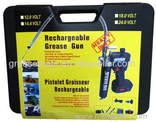 24V rechargeable grease gun