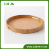 Round Bamboo Fiber Serving Tray