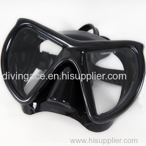 Wide view prefessional scuba diving gear free sea diving mask black