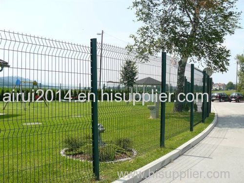 peach post wire mesh fence/easily installed mesh fence