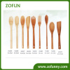 Bamboo Cooking utensil set with silicone handle