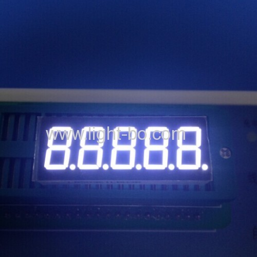 5 digit 0.36 inch common cathode super bright red 7 segment led display for Instrument Panel