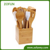 Bamboo utensil with holder
