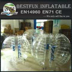 Cheap inflatable body bumper ball for summer