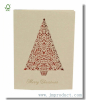 Kraft Paper Christmas Card Printed Christmas Tree