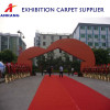 Nonwoven needle punched exhibition carpet
