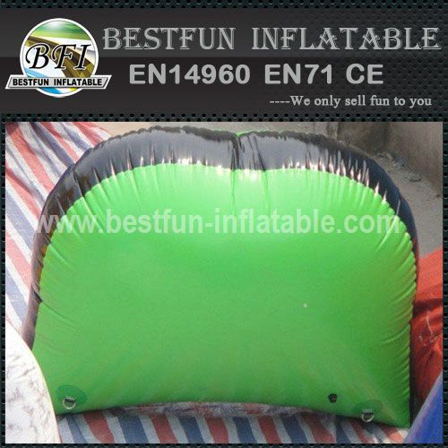 Inflatable half moons paintball bunkers