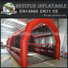 Inflatable paintball bunker field