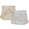 Cotton contoured fitted diaper