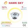 hot sale high lumen led downlight CE ROHS 3 years warranty warm white led downlight
