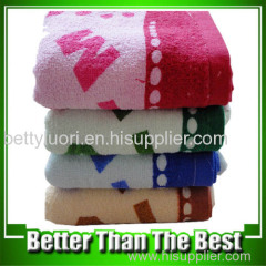 100% Cotton Terry With Pigment Printing Face Towel