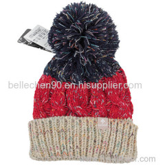 100% Acrylic Knitted Beanie Hat; winter ski hats; winter hats