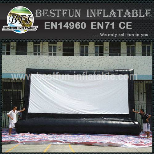 Portable outdoor event inflatable movie screen