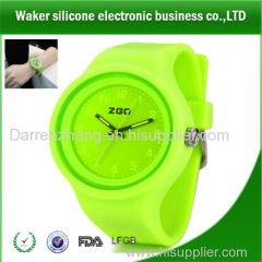 Silicone Rubber Wrist Gift Watch High Quality Elastic Wrist Band