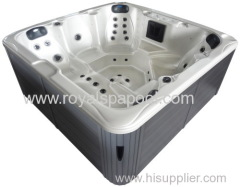 Outdoor spa jacuzzi hot tub