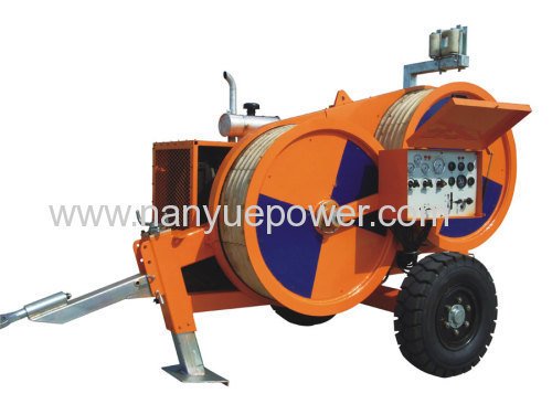 18 Ton hydraulic cable pulling winch puller tensioner transmission line conductor tension wire cable stringing equipment