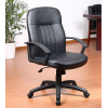 Black Bonded Leather staff task boss executive office Chair with durable nylon base L231