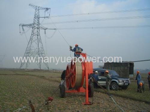 40 T Cable winch puller electric power distribution electricity transmission line conductor tension stringing equipments