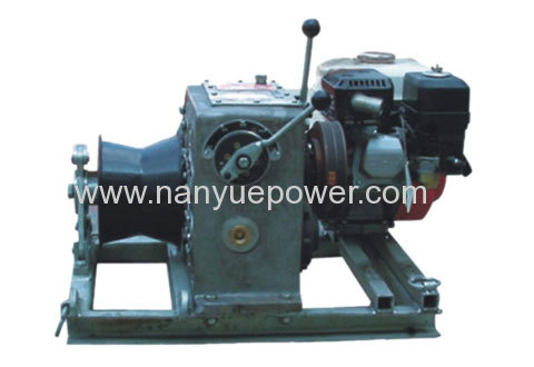 11 T twin double bundled conductors cable bullwheel winch puller tensioner transmission line tension stringing equipment
