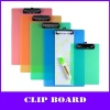 color pp clipboard with metal clip (80pages)