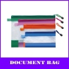 color a4 pvc zipper file mesh bag