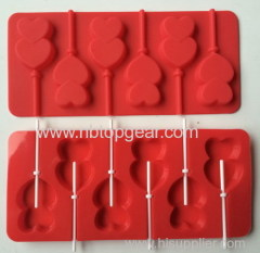 Food grade silicone lollipop molds with pp stick