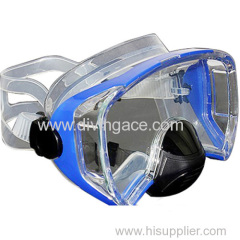 Tempered glass scuba diving mask single window with wide sight