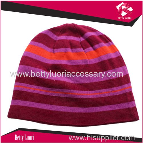 High quality winter custom knitted jacquard beanie