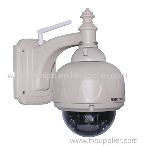 wanscam outdoor 720p hd megapixel p2p dome ptz zoom ip camera