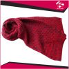LADIES KNITTED RED SCARF