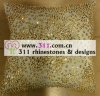 311 pillow rhinestone studs copper studs hot-fix heat transfer rhinestone motif design 3