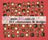 311-copper studs alloy studs-hot-fix heat transfer rhinestone motif design 3