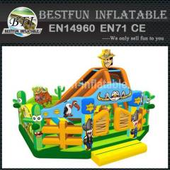 Inflatable cowboys amusement playground