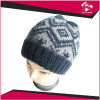 LADIES JACQUARD KNITTED BEANIE
