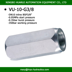bsp 3/8 inch high pressure check valves hydraulic operated carbon steel check valve