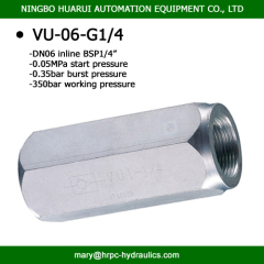 female thread bsp1/4 inch high pressure hydraulic operated check valve steel non-return valve