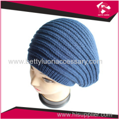 KNITTED ACRYLIC BERET HAT