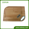 Two sizes bamboo cutting board with silicone handle