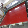 Red sparkle quartz stone slabs